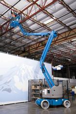 Gelenkteleskoparbeitsbühne 14m selbstfahrend mieten leihen
