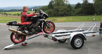 Motorradanhänger 750 kg, gebremst mieten leihen