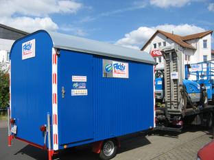 Bauwagen 3,5 m, Schnellläufer 80 km/h mieten leihen